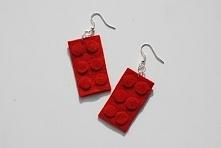 """""""Legowy Budulec"""" - własnoręcznie wykonane filcowe kolczyki"""