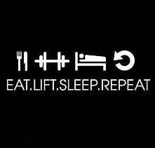 eat ✔ workout ✔ sleep