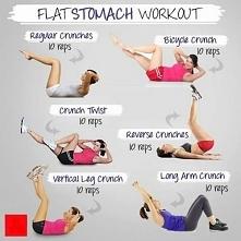 Cwiczenia na brzuch! Z kazdym nastepnym dniem dodaj kilka powtorzen w kazde cwiczenie :) Calosc powtorz 2-3 razy.