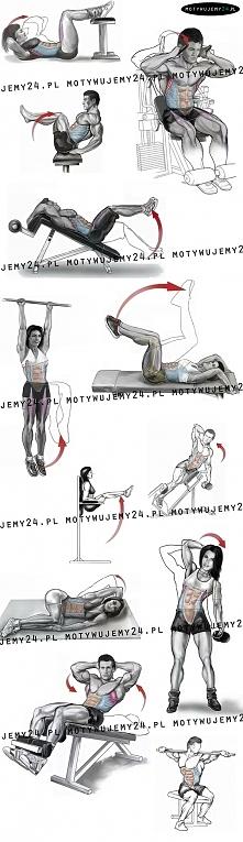 zestaw najlepszych ćwiczeń na brzuch