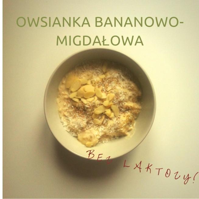 Zdrowa Dietetyczna Owsianka Pyszne śniadanie Z Bananem