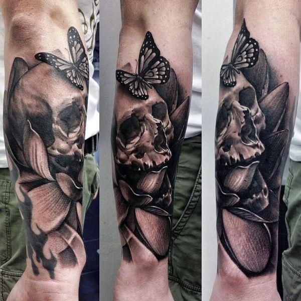 Tatuaże 3d Na Przedramieniu Czaszka Na Tatuaże Zszywkapl