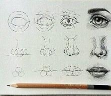 oko nos jak namalować