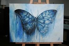 Niebieski. 50x70. akryl. płótno