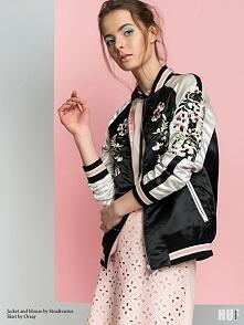 bomber jacket stradivarius spódniczka orsay. Hot trendy, w sesji stylizowanej...