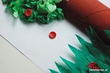 Drzewo z rolki po papierze ...