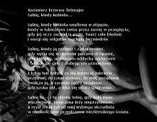 Kazimierz Przerwa - Tetmajer  Lubię, kiedy kobieta...