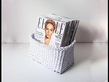 DIY: Koszyk z wikliny papie...