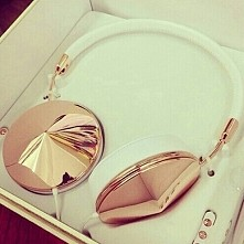 white,  gold,  headphones, Taylor Gold, rich