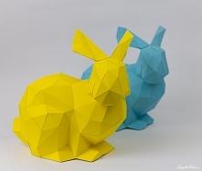 Zajączek 3D origami (jak chcesz wiedzieć jak wykonać, kliknij na obrazek)