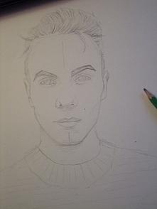 Wstępny szkic do portretu a...