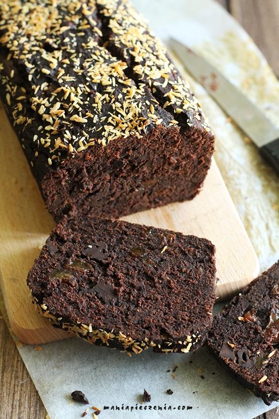 Ciasto czekoladowo-bananowe FIT (wegańskie, bez glutenu, laktozy i cukru) bardzo smaczne! przepis po kliknieciu w zdjęcie: maniapieczenia.com