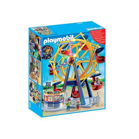 Kolejna atrakcja do Twojego wesołego miasteczka to Diabelski młyn w Zestawie Playmobil 5552 z 4 Figurkami dla Dzieci od lat 4.  Młyn świeci kolorowymi światłami, ma aż 7 wygodnych gondoli, z których każda pomieści aż 2 figurki Playmobil.   Sprawdźcie sami:)  #playmobil #summerfun #diabelskimlyn #zabawki #niczchin #krakow
