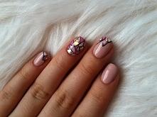 """Zapraszam na mój pierwszy filmik ! :) Paznokcie hybrydowe """"mozaika"""" + glass nails"""