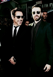 Robert Downey jr. i Chris Evans ♥