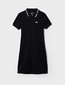 Stussy Good Vibe Polo Dress Black