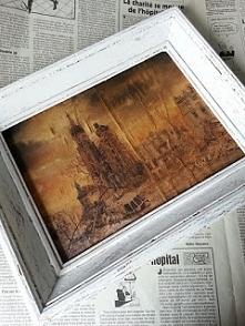 Post apocalyptic painting. Postapokaliptyczny obraz. Diy po kliknięciu w zdjęcie.