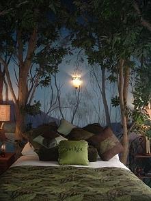 sypialnia w lesie