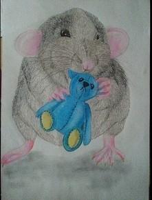 #rysunek #obraz #szczur #zwierze