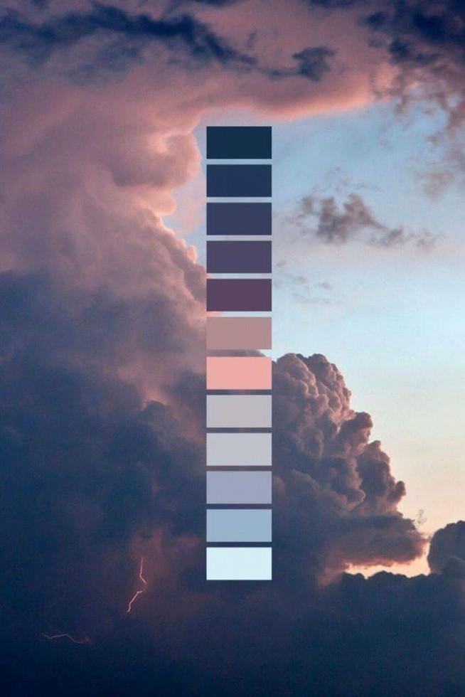 Piękna paleta kolorów. Prawie jak ombre :)