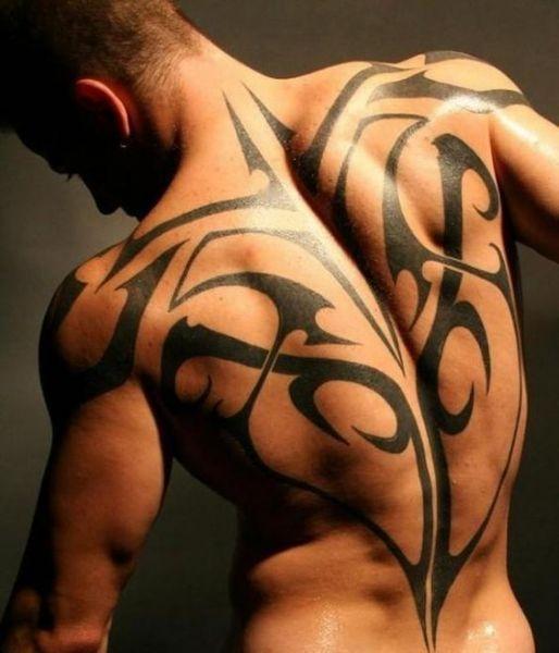 Tatuaże Męskie Na Plecach Tribal Na Tatuaże Zszywkapl