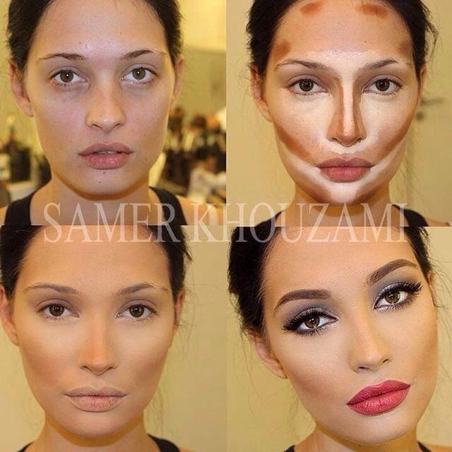 konturowanie twarzy i tyle zmian ;3