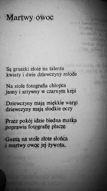 Tadeusz Różewicz. Martwy owoc.