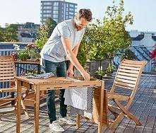Stół z ukrytą suszarką na pranie