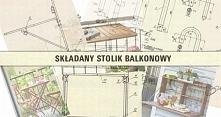 Składany stolik balkonowy D...