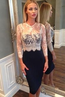 Wizytowa sukienka granatowo biała | sukienka na komunie, wesele