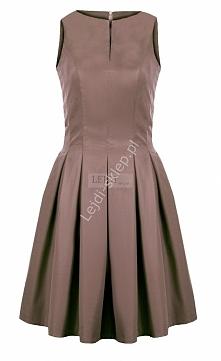 Sukienka beżowa mon 203B