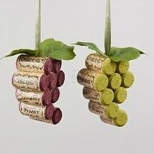 Hand made korek z wina - winogronka <3