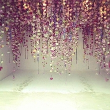Installation Art...Cascading Flowers by Rebecca Louise Law, photo via Laura Ashley