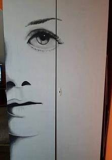 tym razem malowanie na szafie