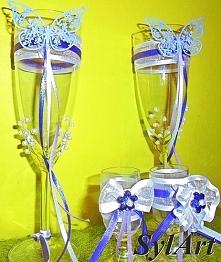 Ozdobne kieliszki na ślub dla Państwa Młodych