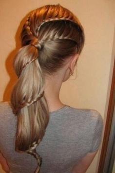 Słodka fryzura do szkoły, na zakupy lub na spotkania ze znajomymi <3
