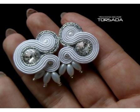 Wkrętki ślubne SELENE delikatne białe - torsadakontakt@gmail.com torsada.blogspot.com