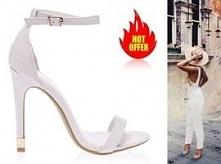 Białe. Ślubne sandałki