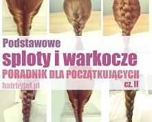 Podstawowe sploty i warkocze- poradnik dla początkujących cz. II