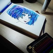 Kredki i szkicownik to najlepsze połączenie na nudne wieczory :)