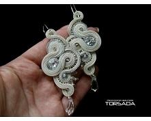 Ślubna biżuteria kolczyki d...