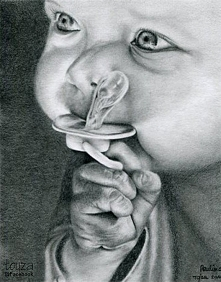 Portret dziecka, A4, ołówek, 2011r.