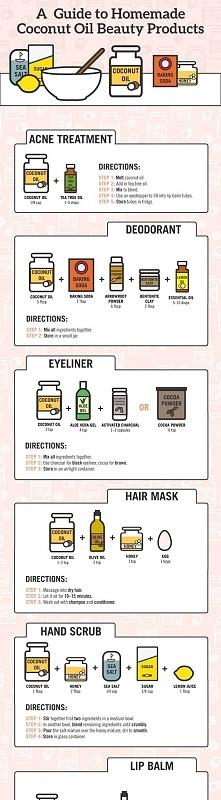 Olej kokosowy i pomysly na zastosowanie w kosmetyce :)