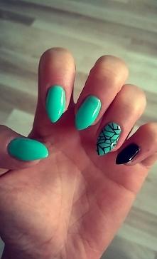 Moje miętowe paznokcie ;)