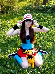 Mój cosplay Leaf z Pokemonów. :)