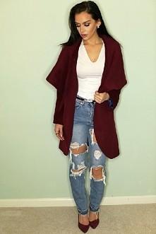 uwielbiam ten zestaw ! *-*  kolor bordo... oraz te spodnie ♥