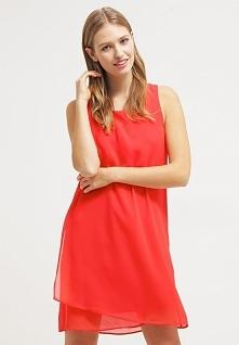 Letnia sukienka z szyfonu czerwona