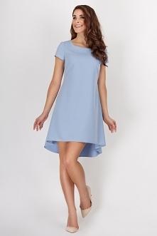 Sukienka asymetryczna kontr...