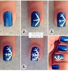 fajny pomysł na paznokcie na zimę :)