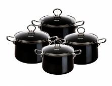 Czarne, stylowe garnki idealne do nowoczesnej kuchni. Więcej na FB -> naczynia.olkusz